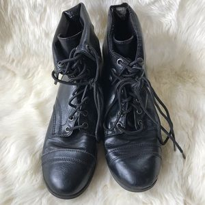 BRASH Lace Up Fold Over Combat Boots